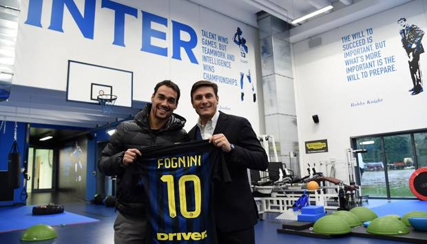 Fabio Fognini con Javier Zanetti.