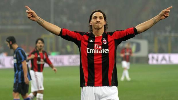 14 novembre 2010: Ibrahimovic ha appena segnato su rigore il decisivo nel suo primo derby da milanista. AP