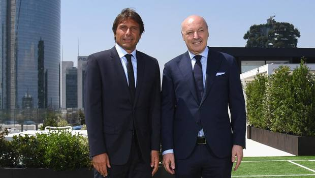Antonio Conte, 50 anni, e Beppe Marotta, 62. Getty Images