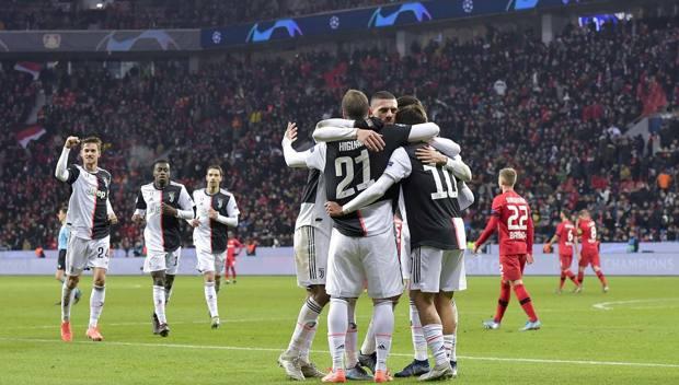 Festa bianconera a Leverkusen. Getty Images