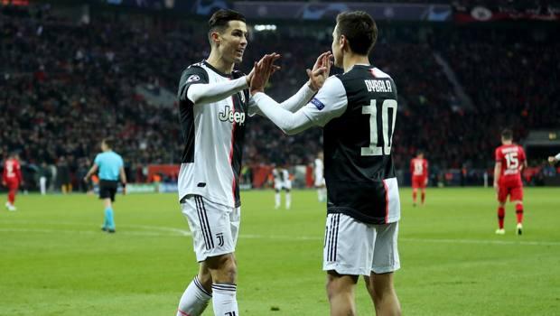 Dybala e Ronaldo hanno confezionato il gol del vantaggio juventino a Leverkusen. Getty