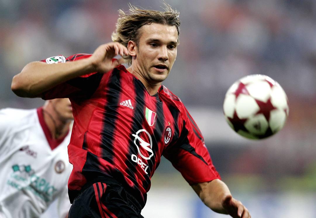 Andriy Shevchenko (43 anni), al Milan dal 1999 al 2006 e poi di nuovo nel 2008-09. AFP