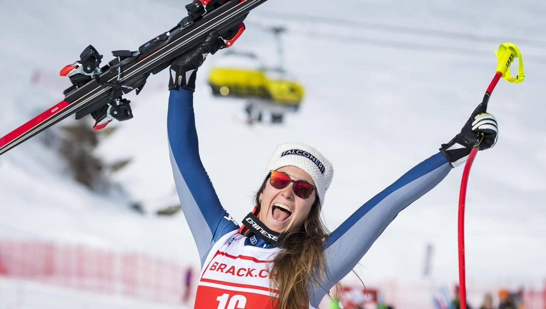 Sofia Goggia, 27 anni, è campionessa olimpica della discesa a Pyeongchang. Epa