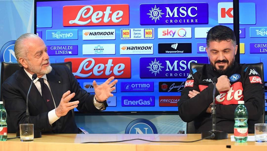 De Laurentiis e Gattuso. Getty