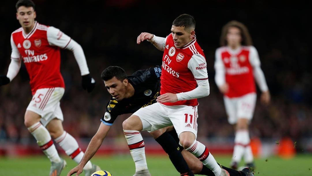 Lucas Torreira, 23 anni, mediano uruguaiano dell'Arsenal. afp