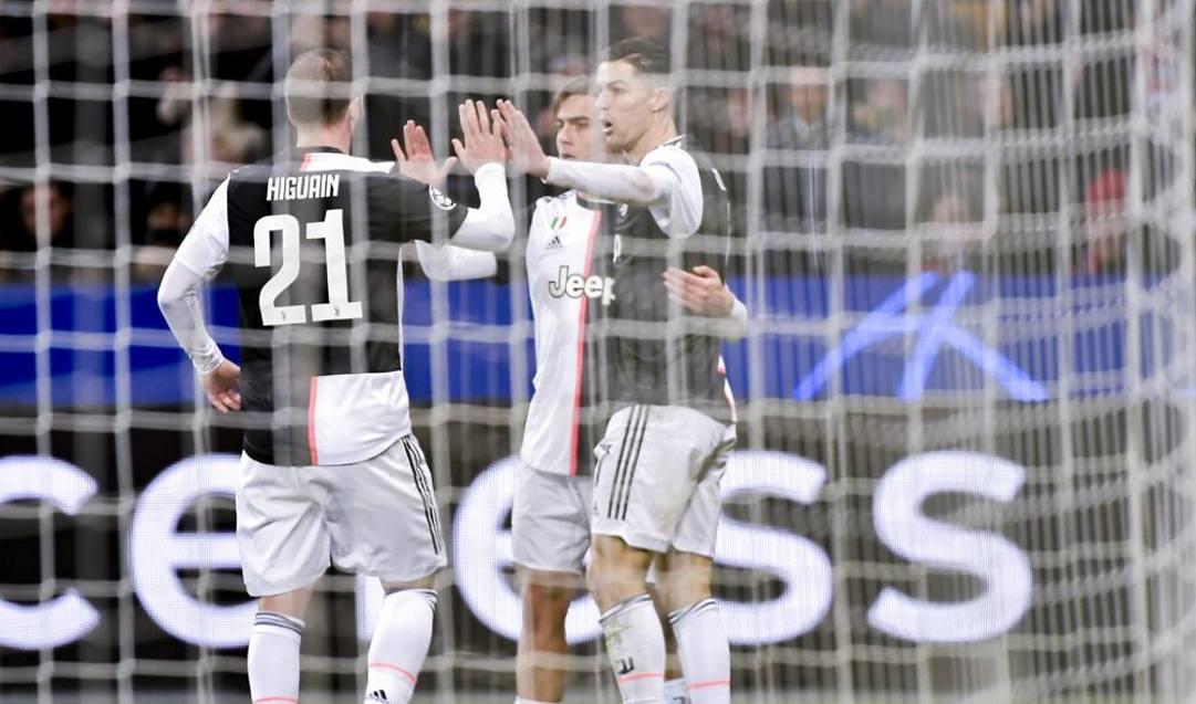 Il tridente Juve: Higuain, Dybala e Ronaldo. LaPresse