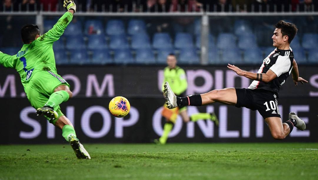 Paulo Dybala, 26 anni, in gol contro la Samp. Afp