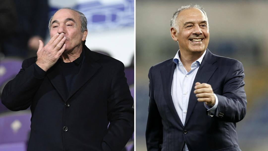 Rocco Commisso, presidente viola, e James Pallotta, numero uno giallorosso