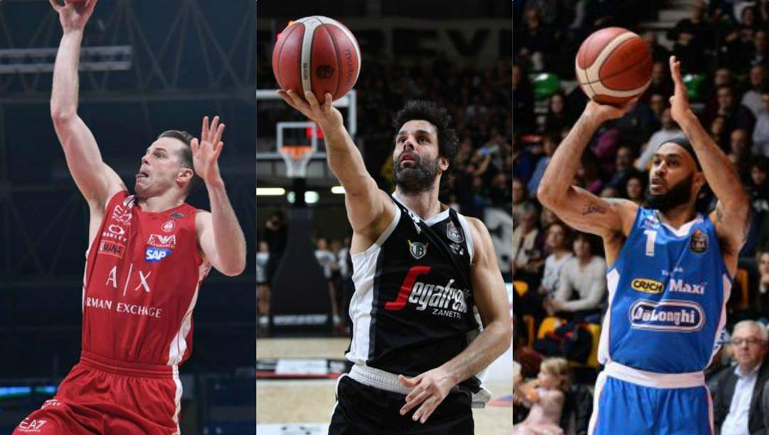 Il tunisino Michael Roll, il serbo Milos Teodosic e il polacco David Logan. Ciamillo