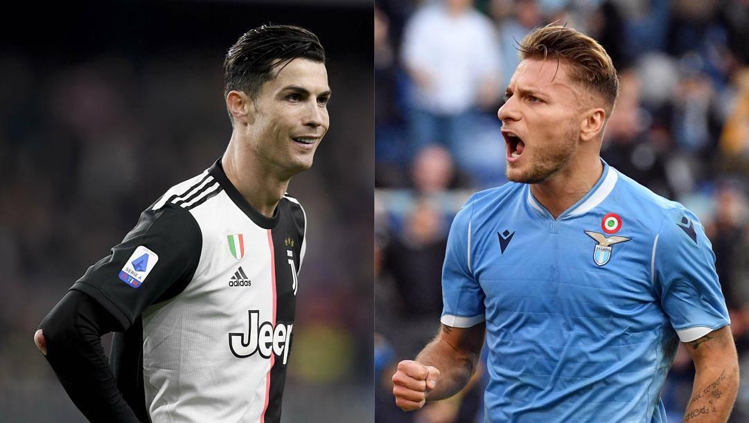 Cristiano Ronaldo, 34 anni e Ciro Immobile, 29 anni. Getty Images