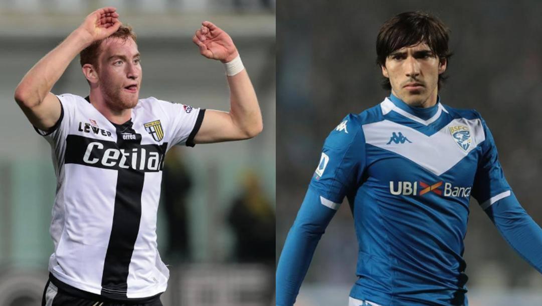 Kulusevski sfida Tonali in Parma-Brescia