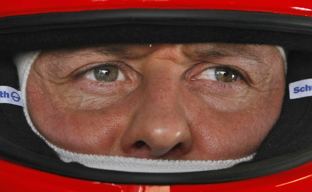 Michael Schumacher ai tempi della Ferrari. AP
