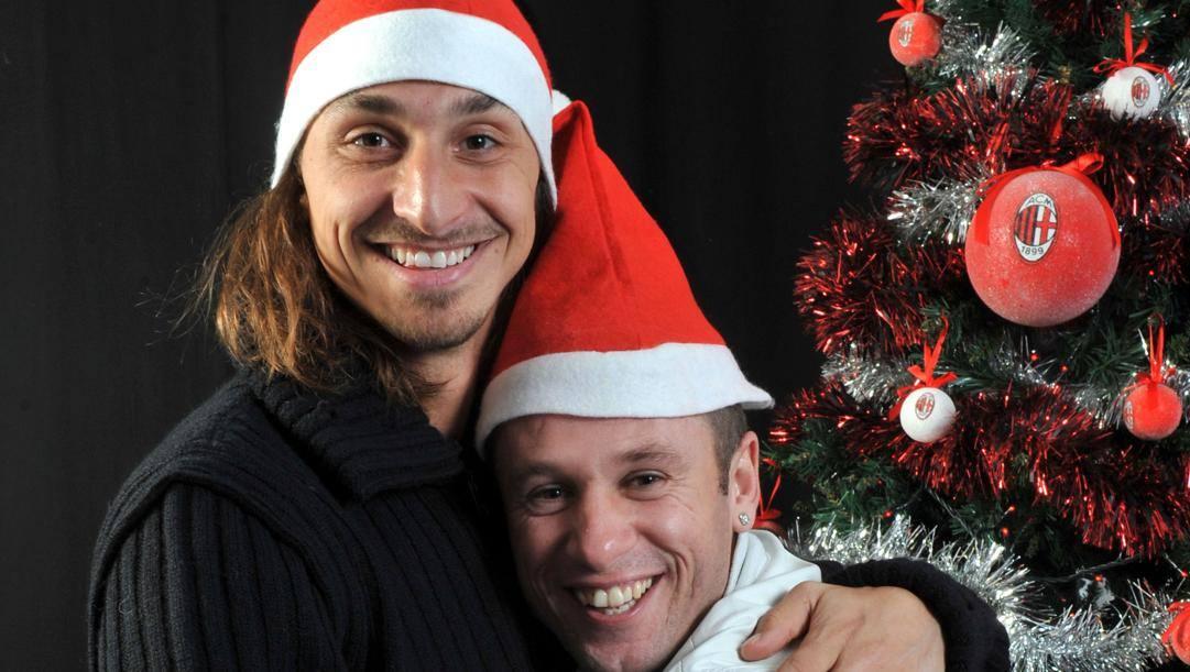 Ibrahimovic e Cassano ai tempi del Milan