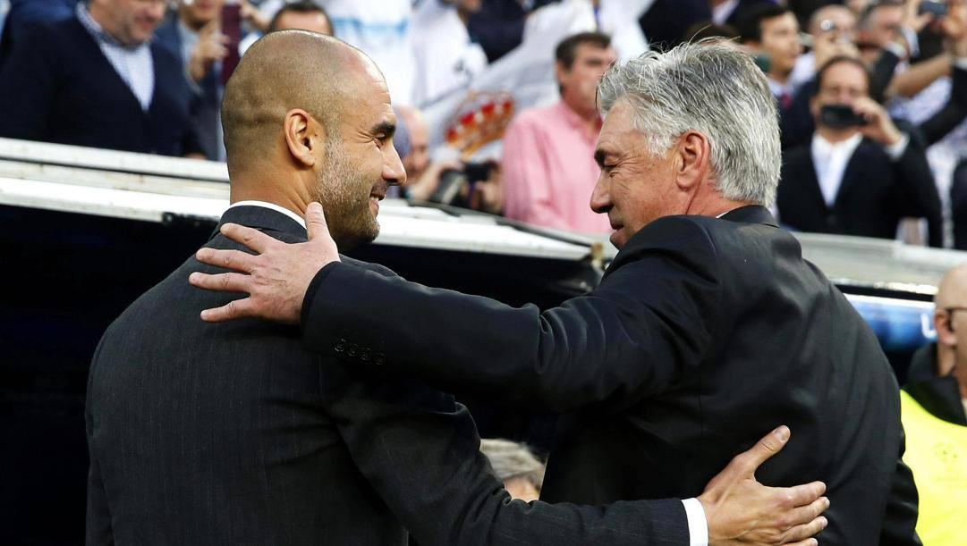Pep Guardiola e Carlo Ancelotti