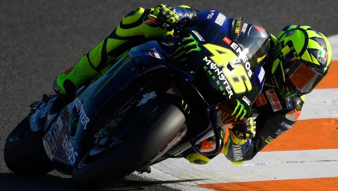 Valentino Rossi, 40 anni, sulla Yamaha M1 nella MotoGP 2019. AFP