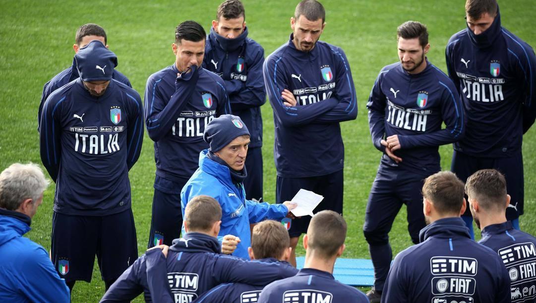 Il c.t. dell'Italia Roberto Mancini