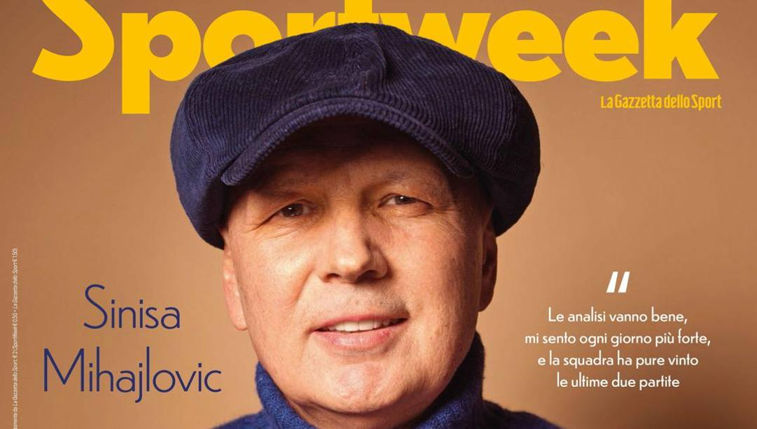 La cover di Sportweek dedicata a Sinisa Mihajlovic.