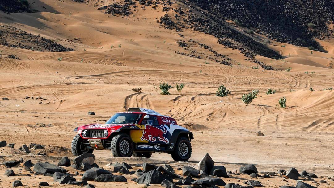 La Mini di Carlos Sainz, atteso protagonista della Dakar 2020. Afp