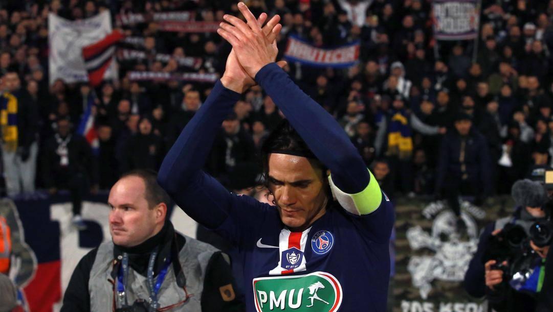 Edinson Cavani, 33 anni a febbraio, al Psg ha un ingaggio di 14 milioni di euro netti a stagione. Epa