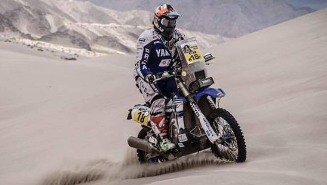 Alessandro Botturi, 44 anni, pilota Yamaha, vincitore dell'ultima Africa Eco Race, nel 2019. LAPRESSE