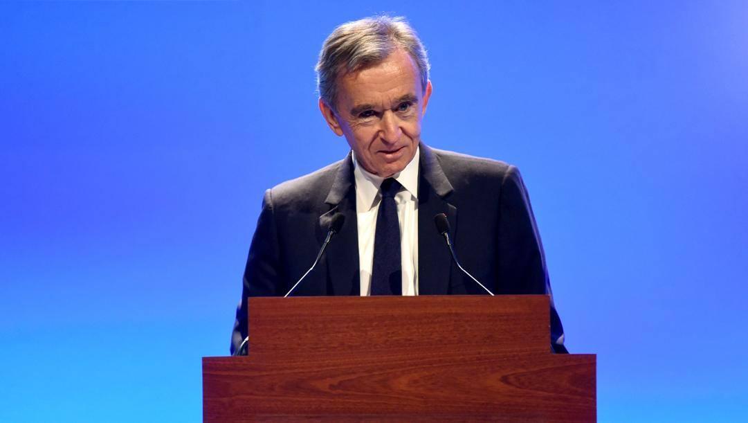 Bernard Arnault, 70 anni, proprietario del gruppo LVMH. Afp
