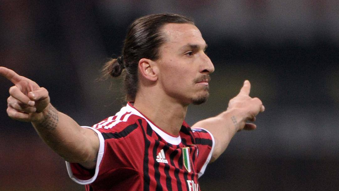 Zlatan Ibrahimovic (38) nel Milan 2011-12. LAPRESSE