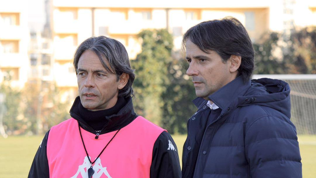 Simone Inzaghi ha visitato il ritiro romano del Benevento di suo fratello Filippo. Twitter