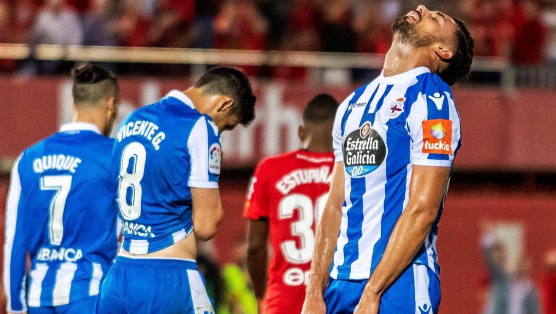 I giocatori del Deportivo si disperano per la finale playoff persa nel 2019. Epa