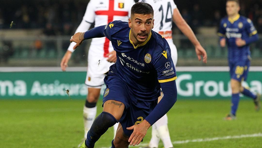 Mattia Zaccagni, 24 anni, centrocampista del Verona. Lapresse