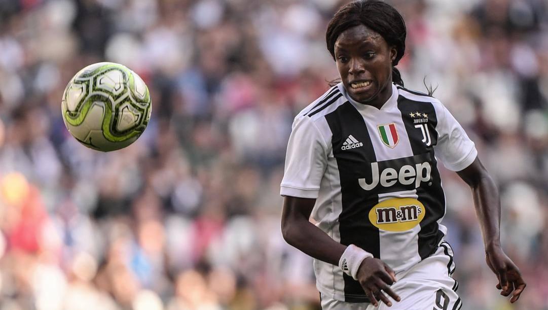 Eniola Aluko, 32 anni, quando giocava nella Juve. Afp