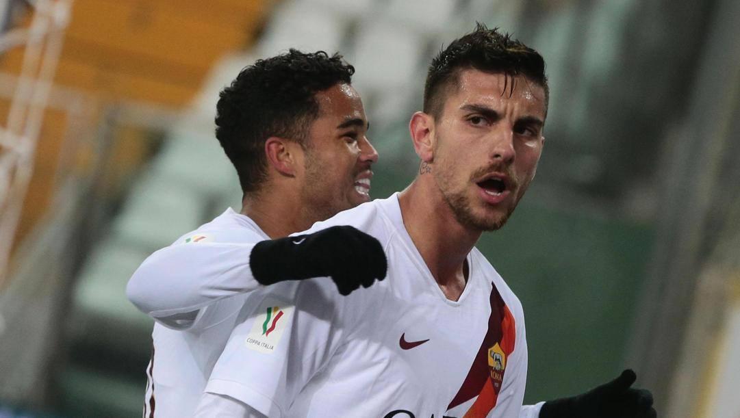 Lorenzo Pellegrini della Roma, decisivo contro il Parma. Epa