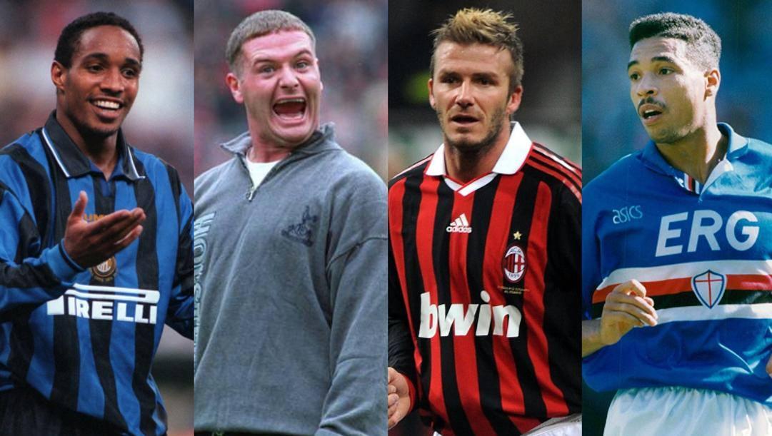 Ince, Gascoigne, Beckham e Des Walker