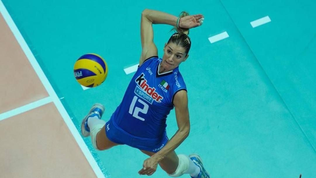 Francesca Piccinini con la maglia della Nazionale
