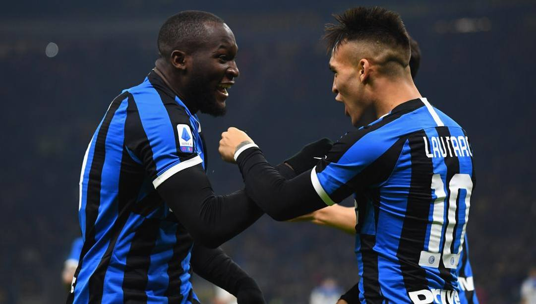 Romelu Lukaku e Lautaro Martinez. Getty