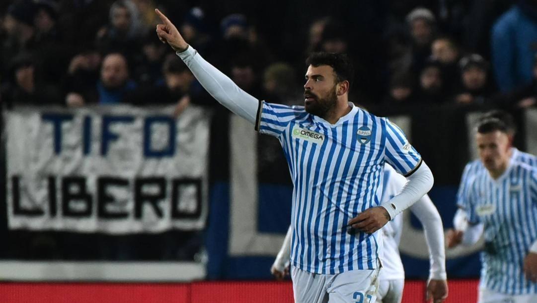 Andrea Petagna esulta dopo il gol: è il quinto da ex all'Atalanta in 4 partite. Ansa