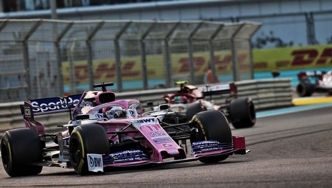 La Racing Point 2019 di Sergio Perez. LAPRESSE