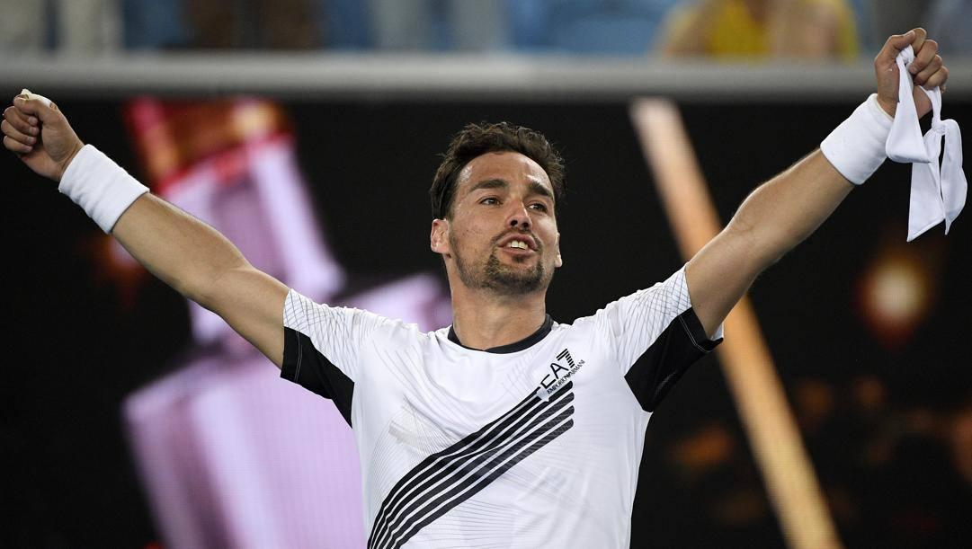 Fabio Fognini, 32 anni. LaPresse