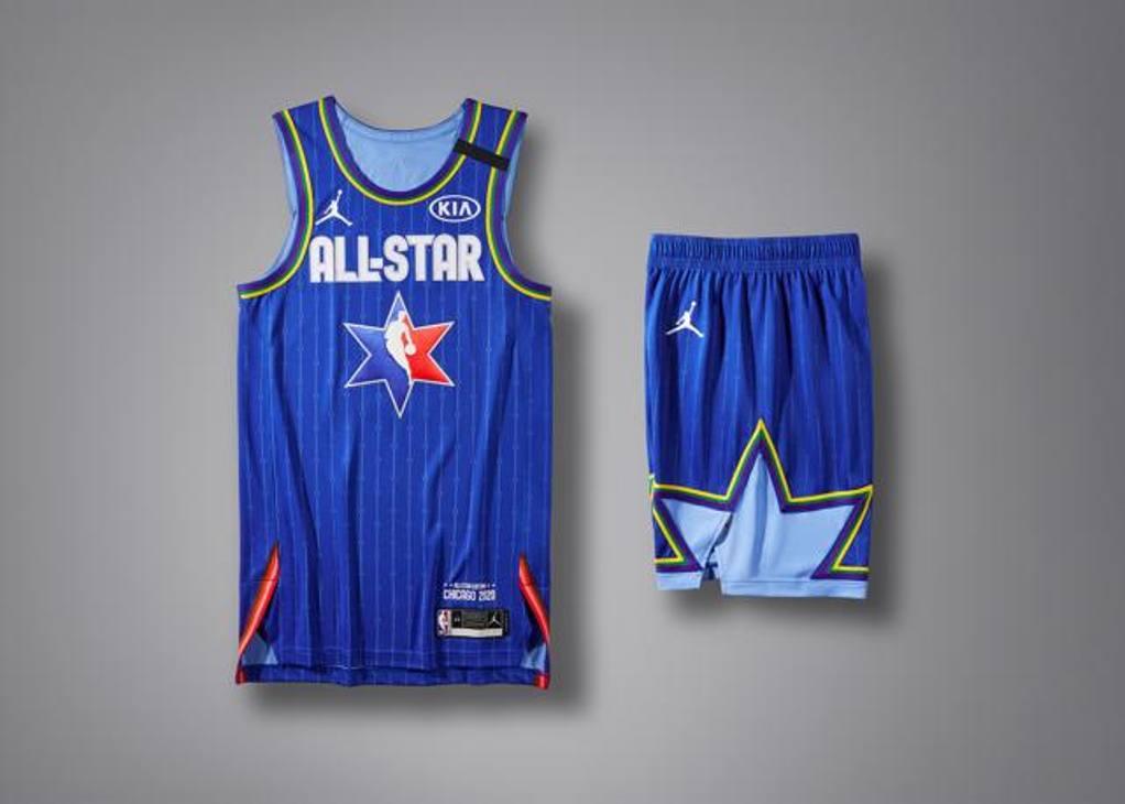 Maglia blu per l'NBA All-Star Game