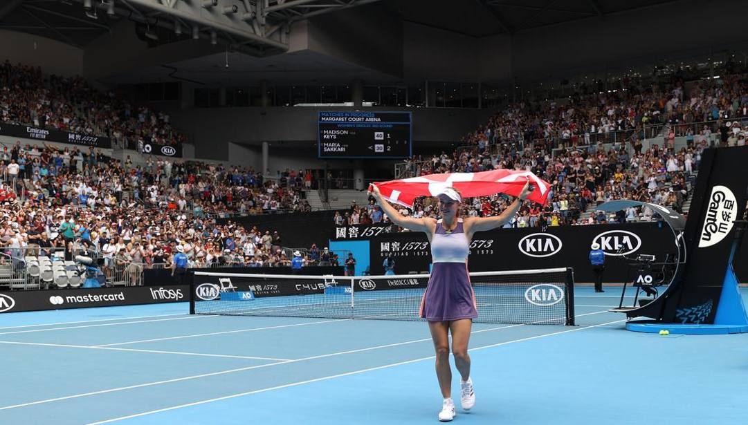 Caroline Wozniacki, 29 anni, dopo l'ultimo match in carriera. Getty
