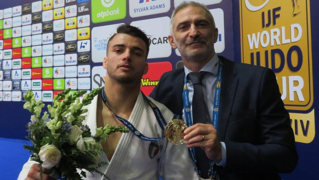 Fabio Basile con il coach Raffaele Toniolo