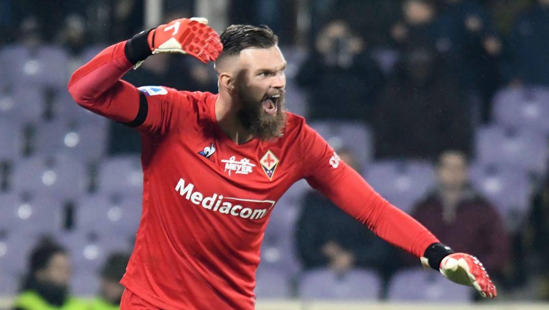 Bartlomiej Dragowski, portiere della Fiorentina. Epa