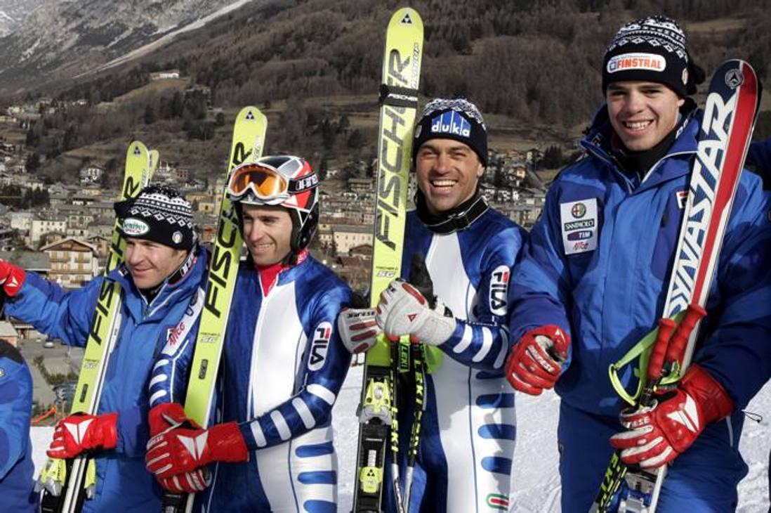 Da sinistra: Kurt Sulzenbhacher, Alessandro Fattori, Kristian Ghedina e Peter Fill