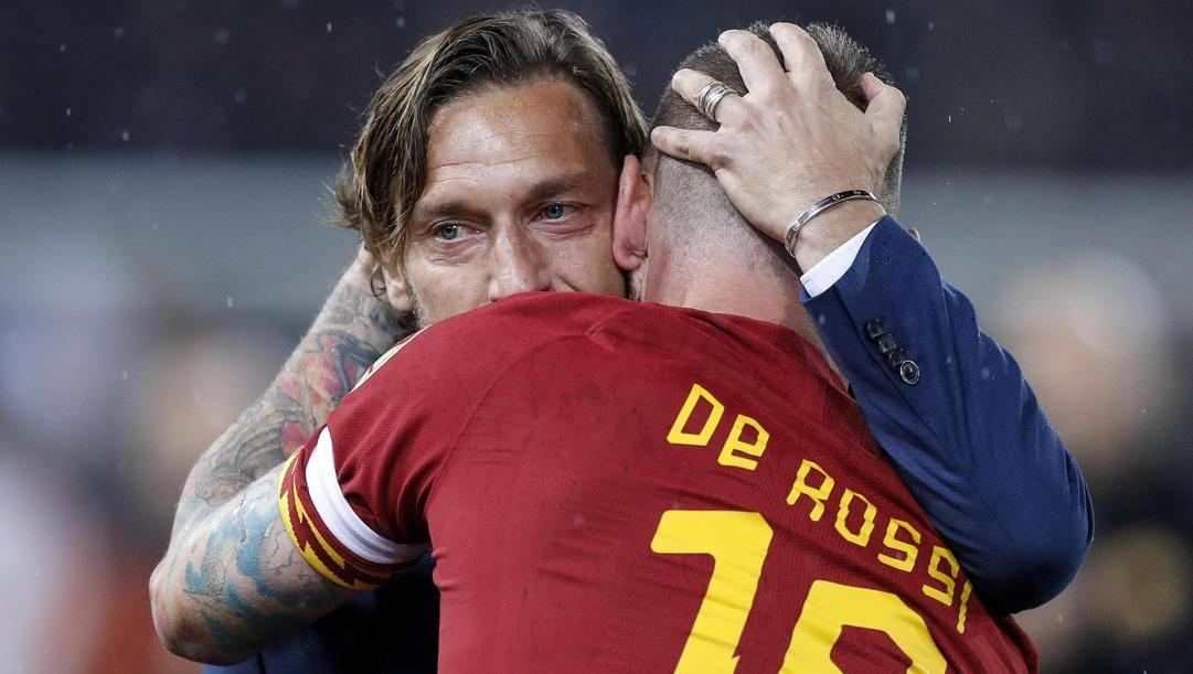 Francesco Totti e Daniele De Rossi. Ansa