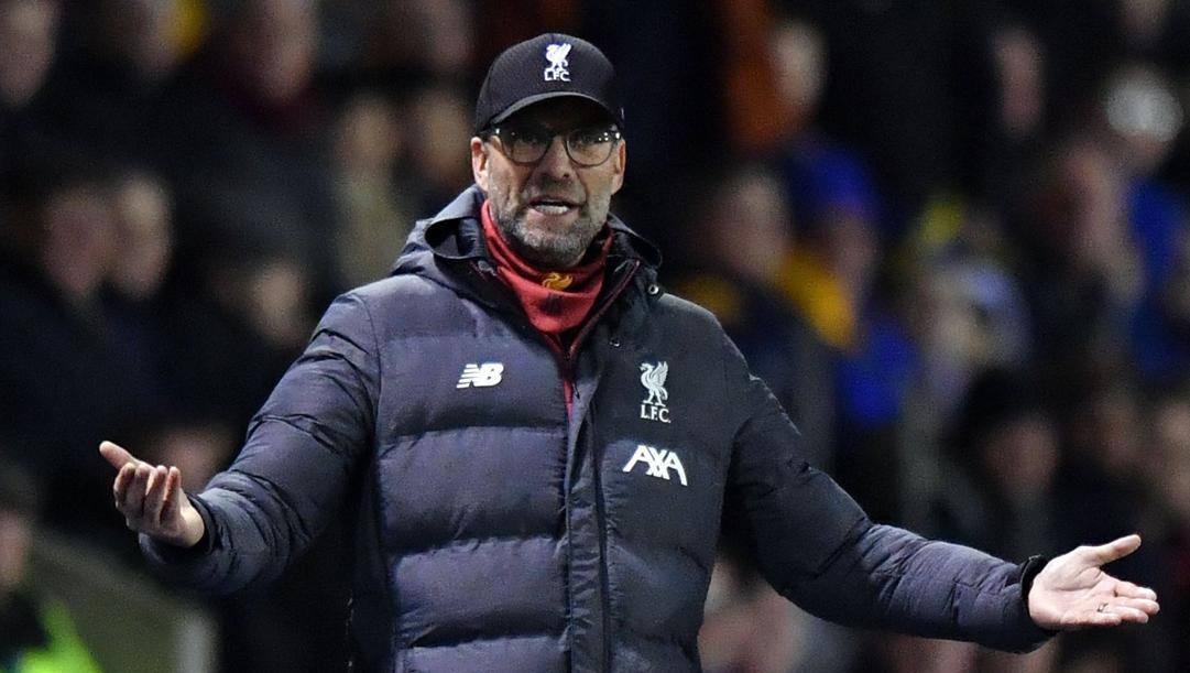 Jurgen Klopp, tecnico del Liverpool. Afp