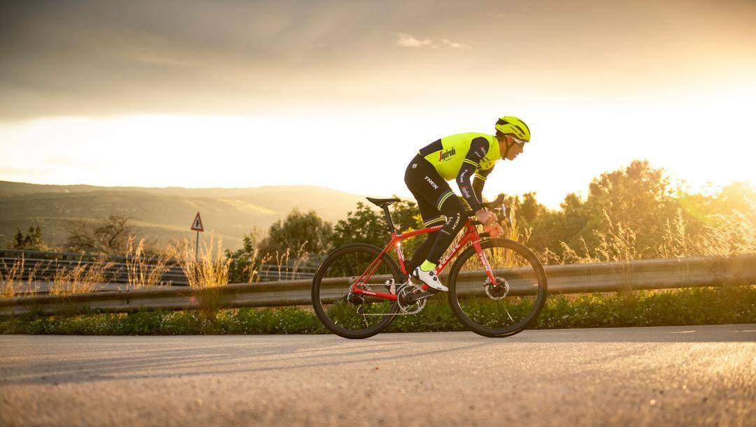Vincenzo Nibali in allenamento in Spagna