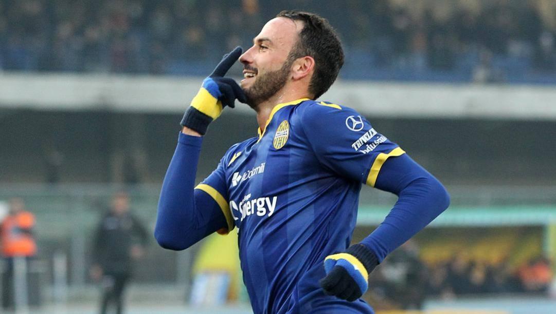Giampaolo Pazzini, 35 anni, attaccante del Verona. Lapresse