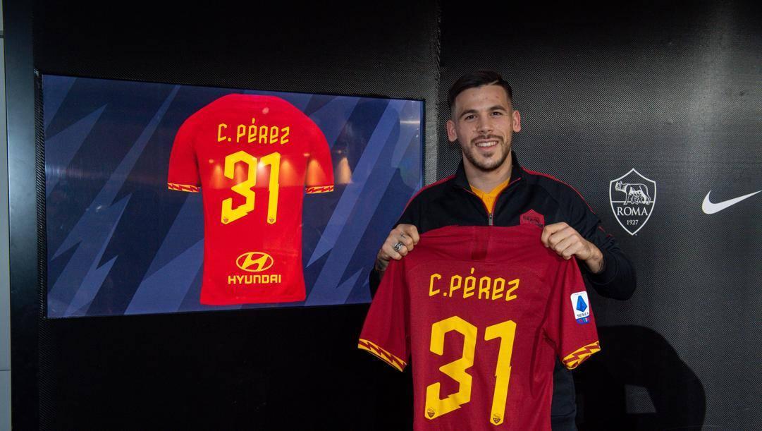 Carles Perez, 21 anni, spagnolo, nuovo attaccante della Roma, ex del Barcellona LaPresse