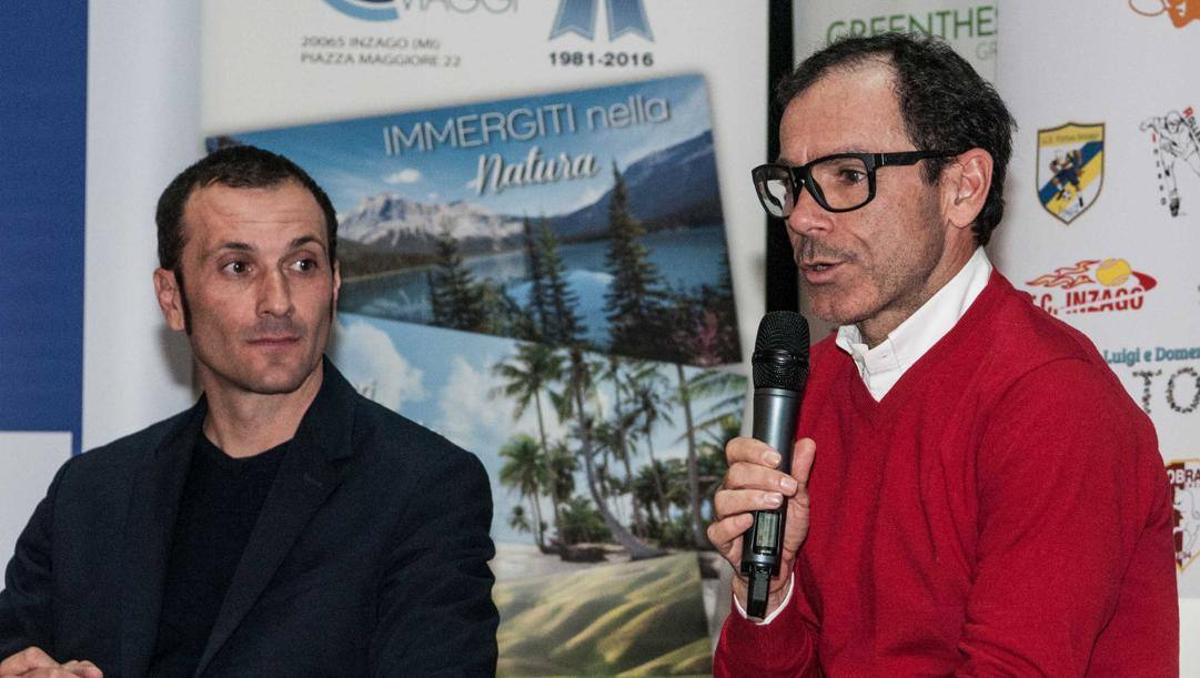 Ivan Basso, 42 anni, e Davide Cassani, 59