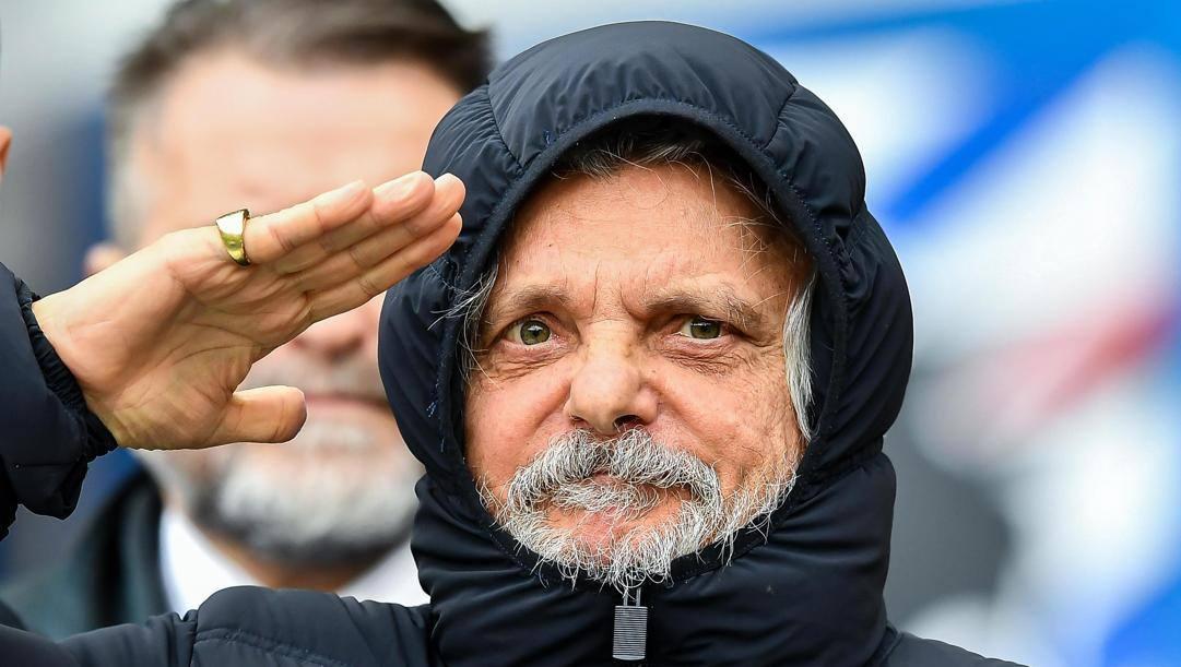 Massimo Ferrero, 68 anni, presidente della Sampdoria