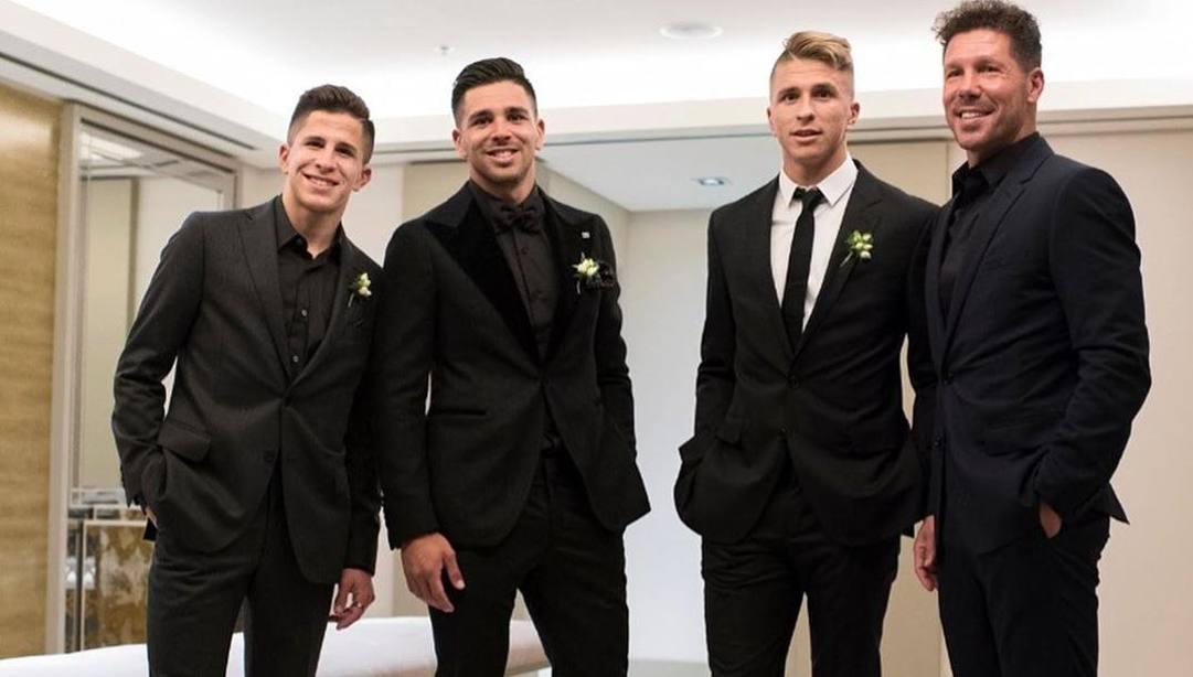 Giuliano, Giovanni, Gianluca e Diego Simeone.